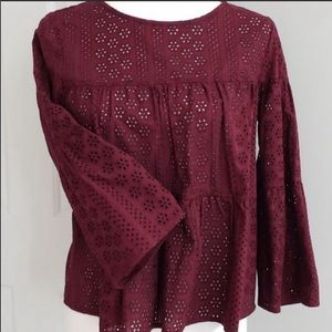 🆕✨Madewell Blouse Cranberry Size XS